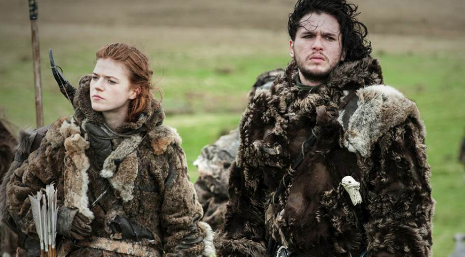 a got still of jon and ygritte from game of thrones amind kit harington cheating accusations