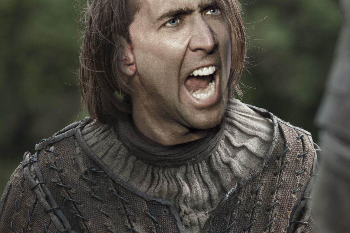 Nicolas Cage As Every Game Of Thrones Character Is Hilarious arya stark 1200x800