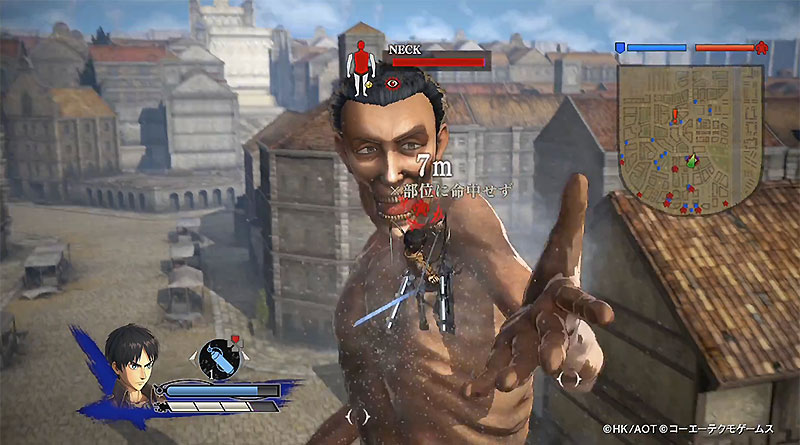 Four Crazy Minutes Of Attack On Titan Footage   In English attack on titan ps vita ps3 ps4 battle gameplay trailer