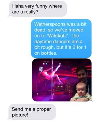 Dad Torments Mum With Hilarious Photoshop Pics Of Babys Day Out baby2