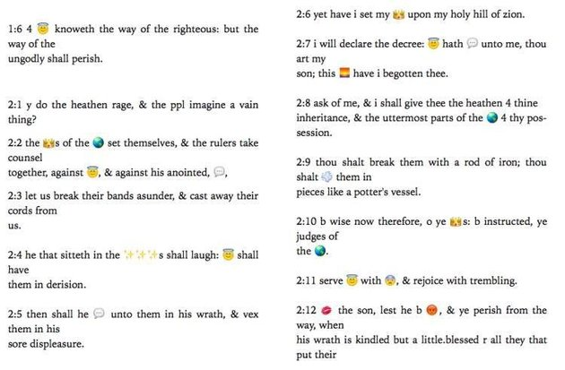Churchs New Attempt To Bring Religion To Kids Is Cringey As F*ck bible emoji2