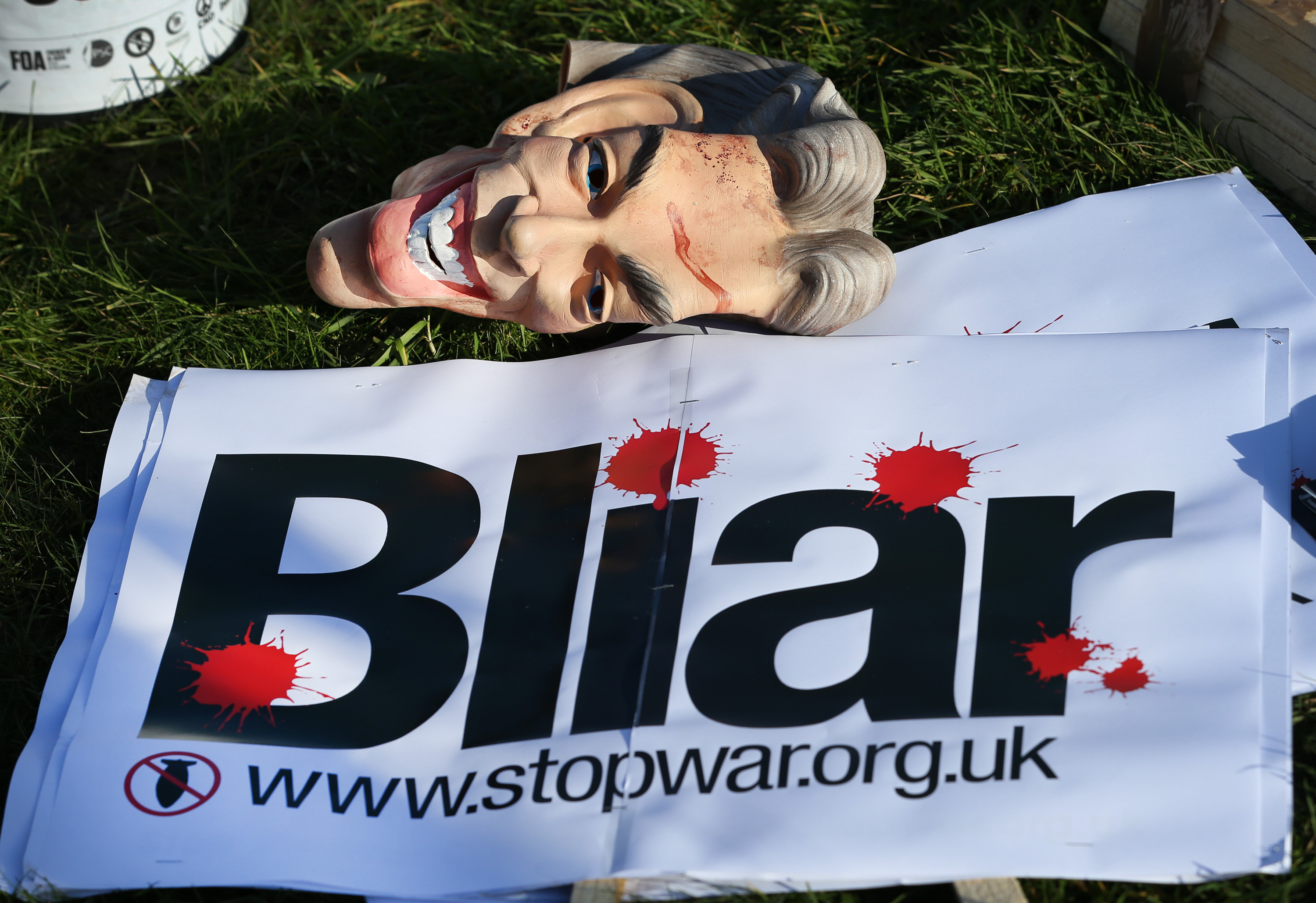 Protests Are Held Over The Delay In The Publication Of The Iraq War Inquiry