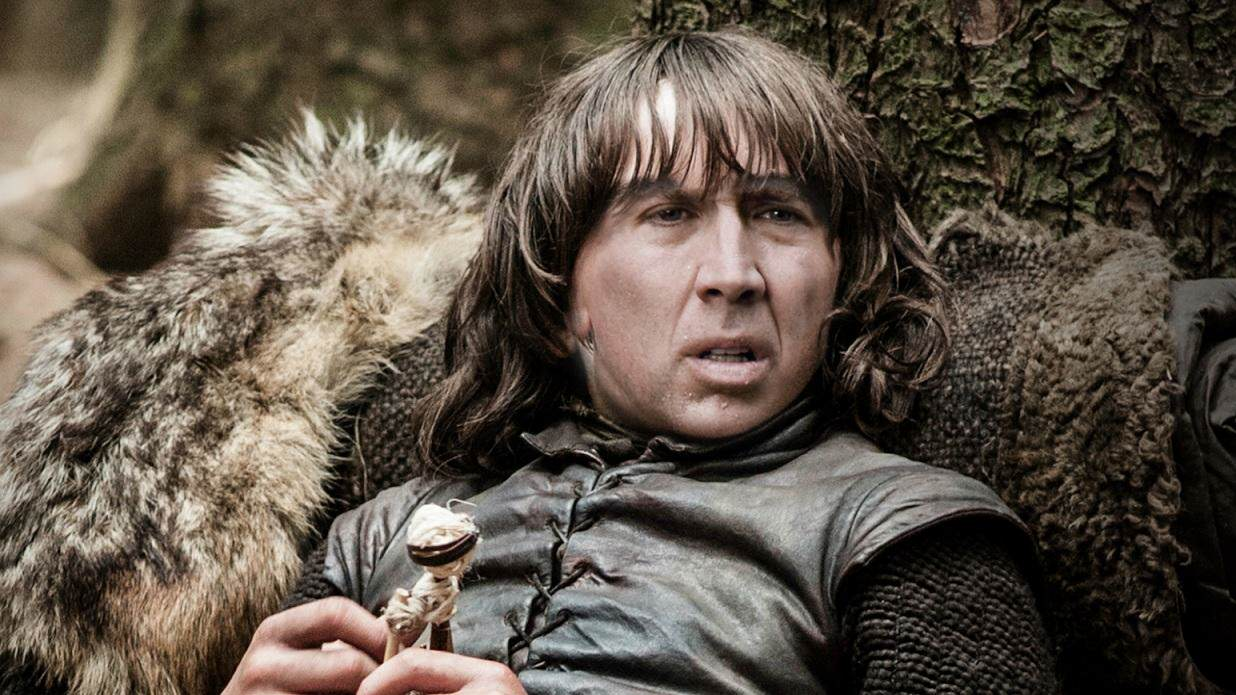 Nicolas Cage As Every Game Of Thrones Character Is Hilarious bran stark