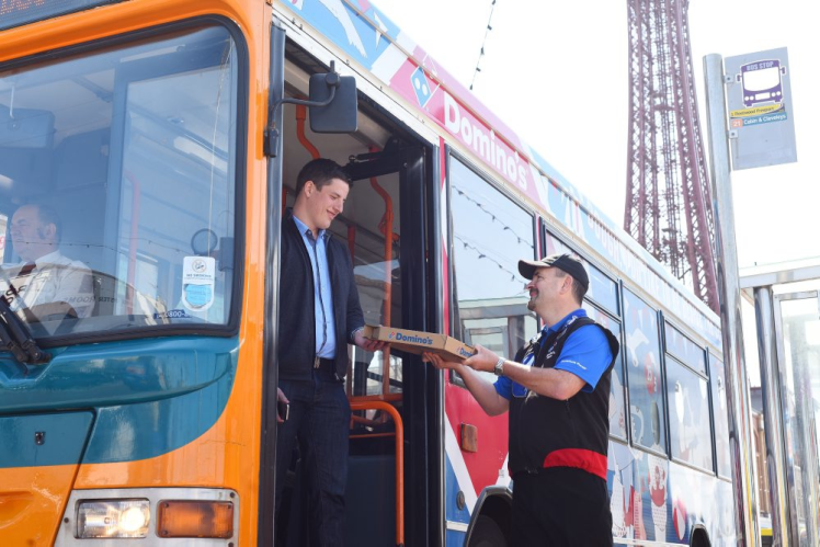 Dominos New Delivery Scheme Is Amazing News For Drunk Commuters bus1
