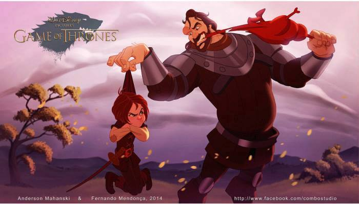 Artist Re Imagines Game Of Thrones As Disney Film And Its Glorious disney6
