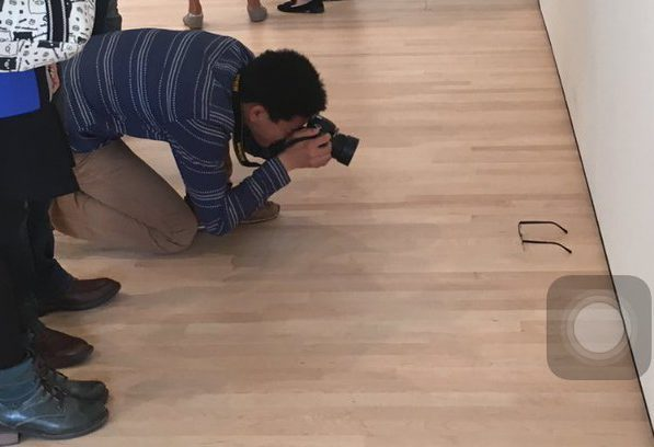 Genius Gallery Pranksters Make Art Fans Look Like Idiots glasses on the floor e1464249639311