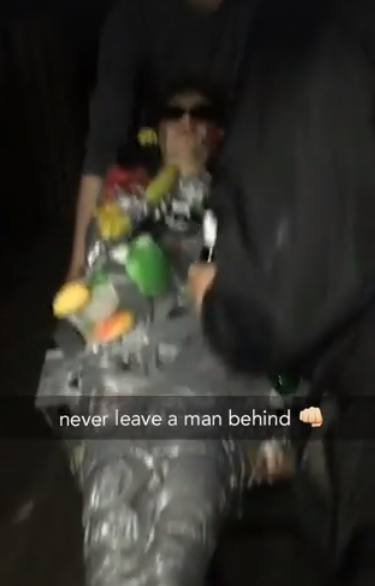 Guy Passes Out, Mates Take Him Out Anyway And Film Whole Thing hilarious 2
