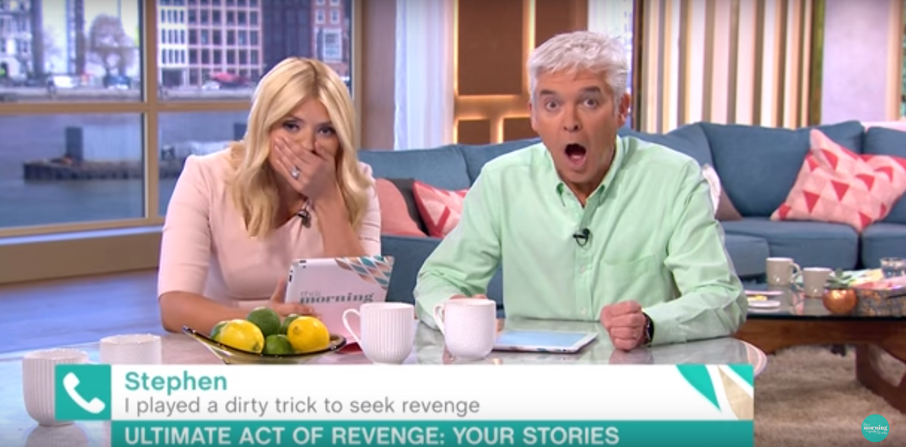 This Morning Presenters Shocked After People Reveal Their Revenge On Cheating Exs hilarious