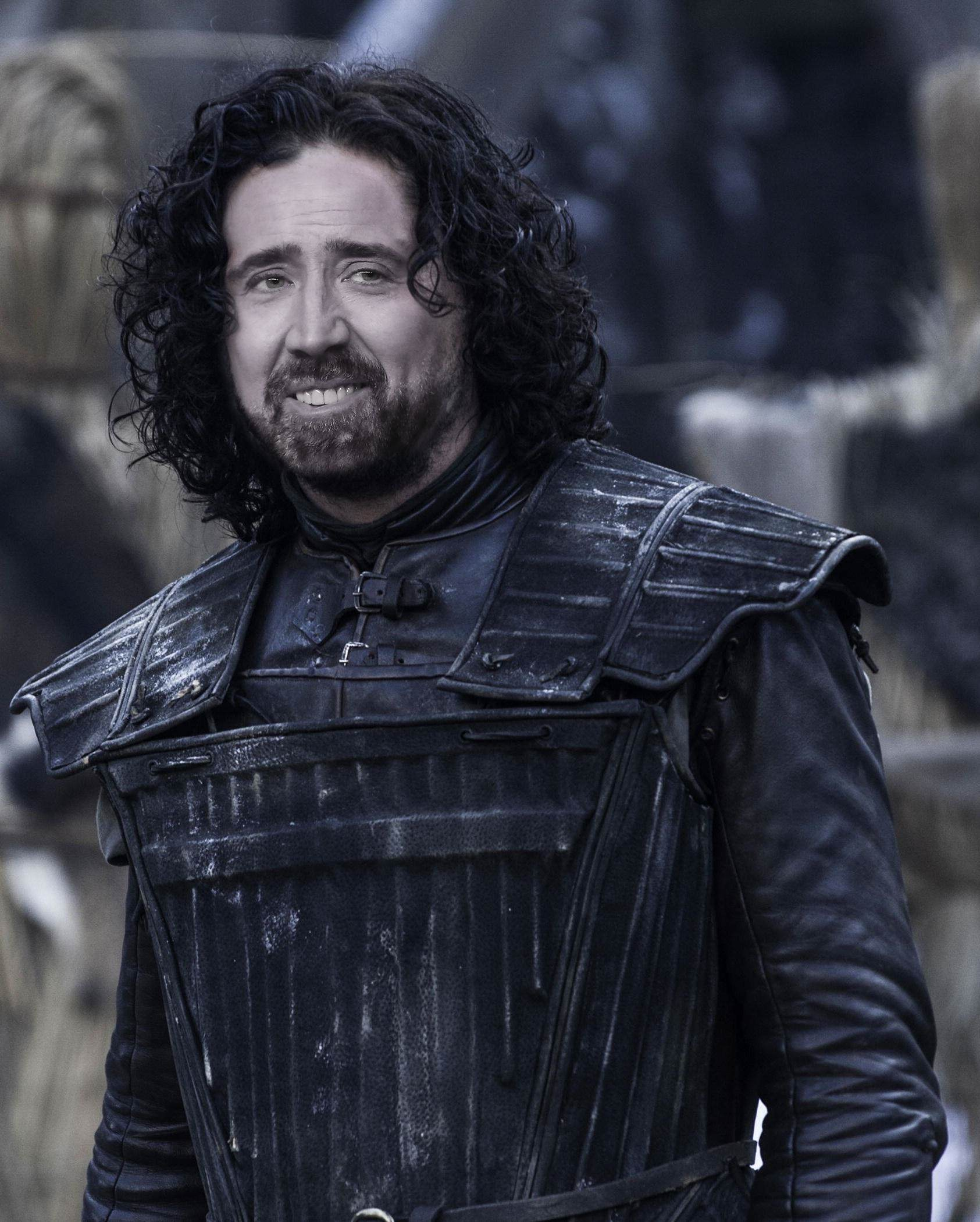 Nicolas Cage As Every Game Of Thrones Character Is Hilarious jon snow