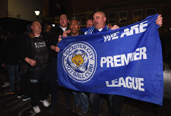 Heres What The Leicester Team Did When They Became Champions lcfc flag