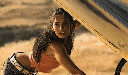 Megan Fox Reveals Reason For Turning Down Pornographic Film megan fox transformers fixing yellow bumblebee