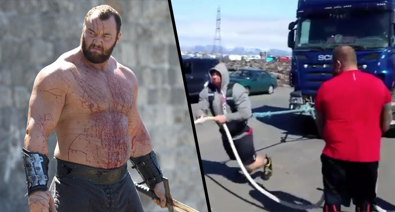 The Mountain Pulls A 17 Ton Truck, Proves Hes An Absolute Beast mountain FB