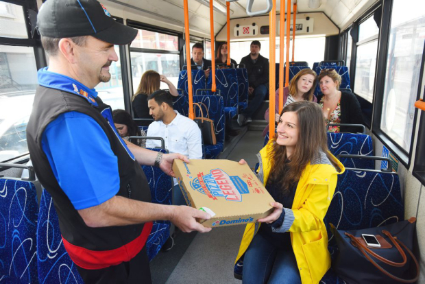 Dominos New Delivery Scheme Is Amazing News For Drunk Commuters pizza bus 46