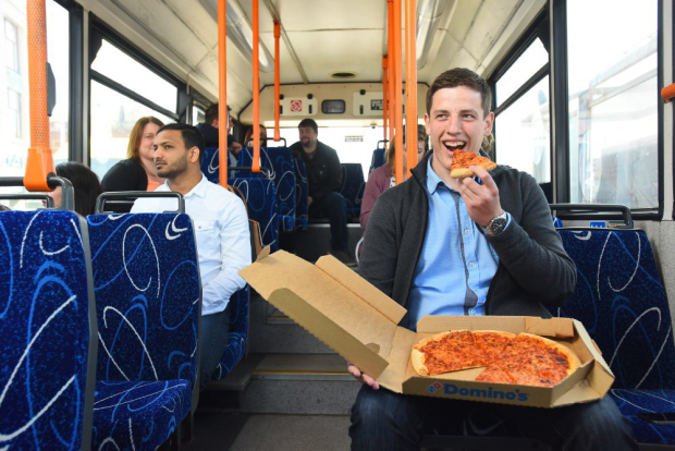 Dominos New Delivery Scheme Is Amazing News For Drunk Commuters pizza bus 47