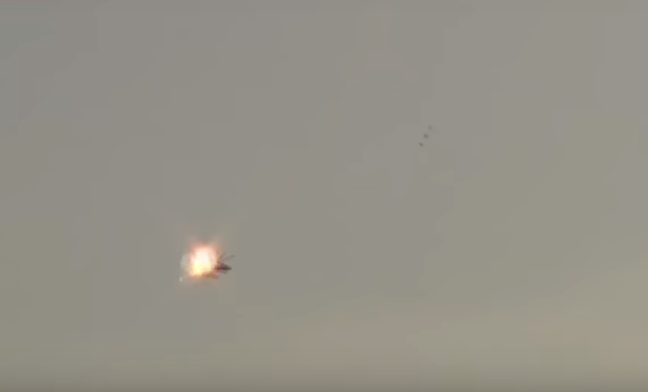 Shocking Video Shows Militant Shooting Down Helicopter With Missile Launcher pkk