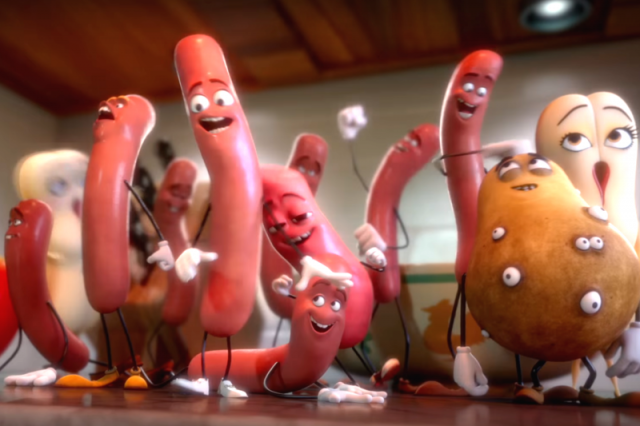 Newest Sausage Party Clip Takes Sexual Innuendo To A New Level sausage party red band trailer 640x426