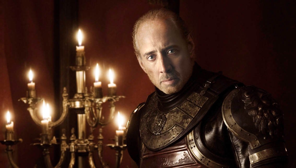 Nicolas Cage As Every Game Of Thrones Character Is Hilarious twin lannister