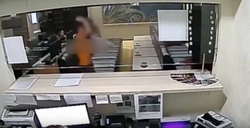 Topless Woman Uses Breasts As Weapons To Attack Security Guard vid 1 2