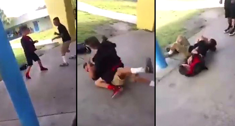 School Bully Instantly Regrets F*cking With Kid With MMA Skills vid fb