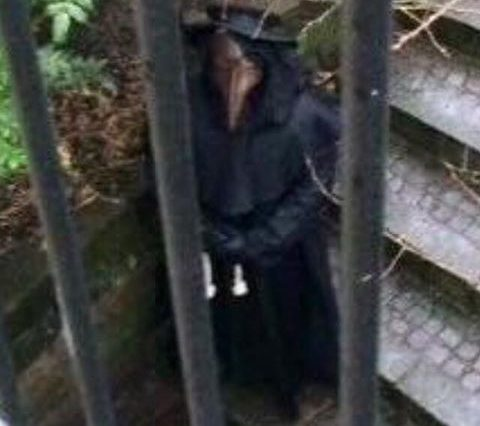 Footage Shows Creepy Plague Doctor Stalking The Streets Of British City 13419039 1738686139718088 5366953154279726661 n 480x426