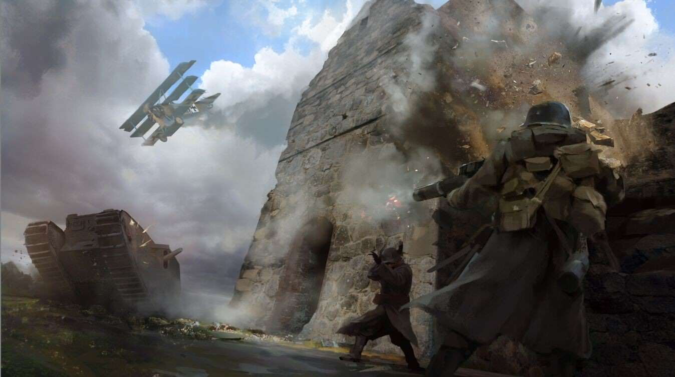 Check out this gorgeous battlefield 1 concept art - Battlefield v concept art wallpaper ...