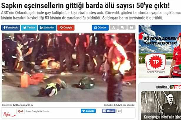 Turkish Newspaper Mocks Orlando Shooting With Homophobic Headline 3531E33200000578 3638055 image m 2 1465770182786