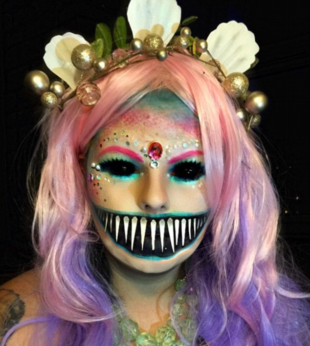 This New Makeup Trend Is Taking Instagram By Storm 35B53EF500000578 3661606 Combination Combining a colourful mermaid look with the black ey a 6 1467012221541 1