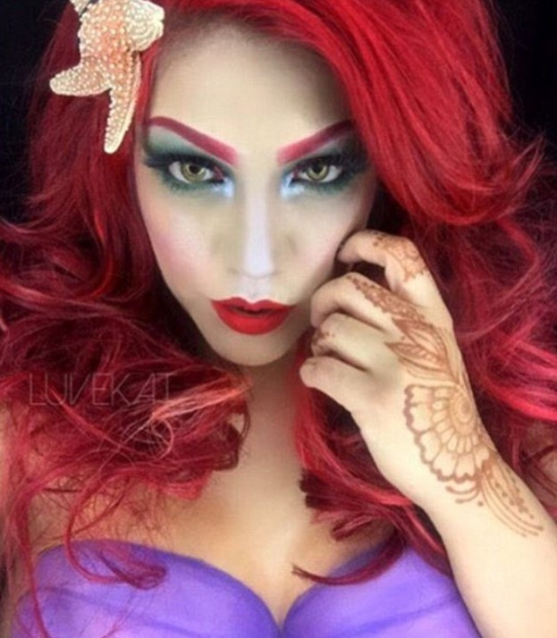 This New Makeup Trend Is Taking Instagram By Storm 35B540E100000578 3661606 Bright red hair Copy Ariel from the Little Mermaid one of the mo a 8 1467012221650