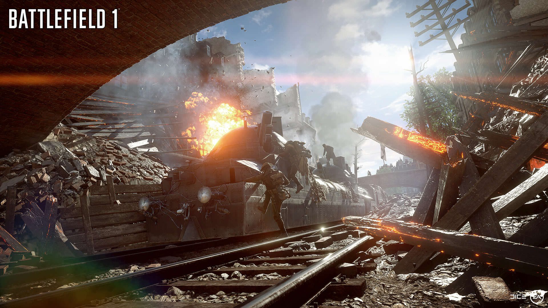 Battlefield 1 Gets Epic New Trailer And Gameplay Features BF1 EA PLAY 04 BEHEMOTH TRAIN WM