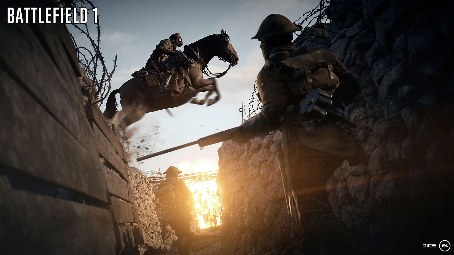 Battlefield 1 Gets Epic New Trailer And Gameplay Features BF1 EA PLAY 06 HORSES WM