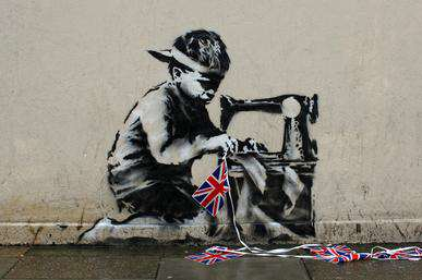 Banksy To Finally Reveal His Identity At Todays South Bank Sky Arts Awards? Banksy Slave Labour Mural 2012