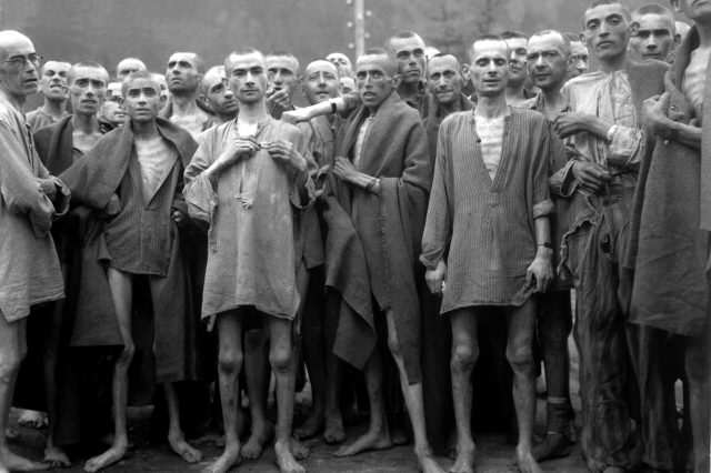 Holocaust Survivor Describes Moment He Was Freed From Concentration Camp Ebensee concentration camp prisoners 1945 640x426