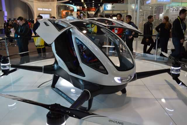 Drone Taxis Could Be A Reality Soon! Ehang184 by ben smith 640x426