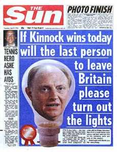 Heres Why You Should Ignore The Suns EU Referendum Front Page Kinnock lightbulb.jog  230x300