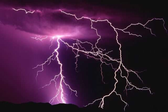 Crowds Injured When Lightning Strikes Rock Festival   For The Second Year Running Pink Lightning 640x426