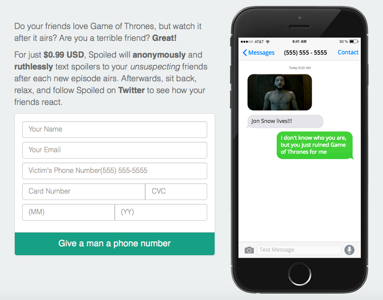 This App Sends Anonymous Game Of Thrones Spoilers To Your Enemies Screen Shot 2016 06 23 at 15.53.00