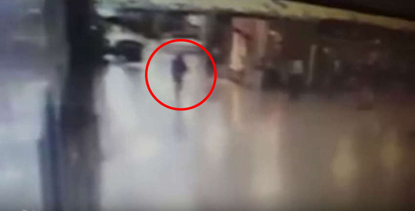 Leaked Footage Shows Moment Police Officer Disarms Airport Attacker Before Bomb Detonates attacker 1