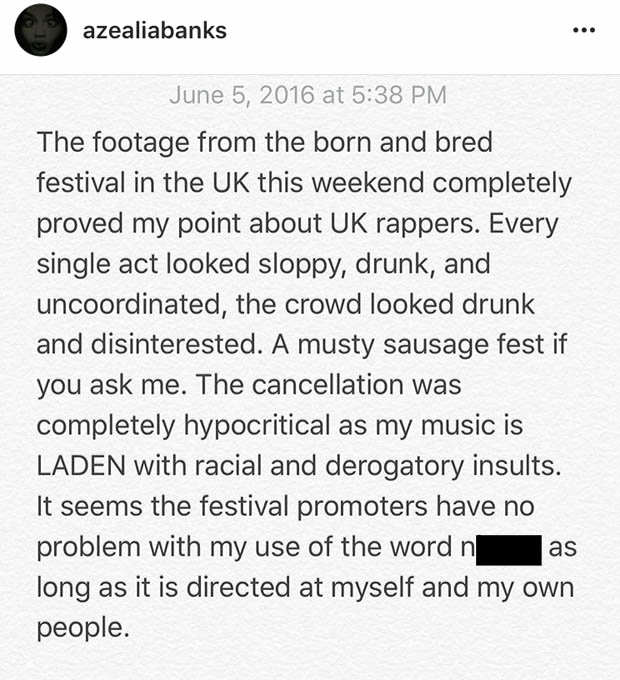 Keyboard Warrior Azealia Banks Aims Fresh Attack At The UK banks2