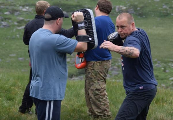 Video Shows Britain First Practising With Knives At Activist Training Camp britain first 1