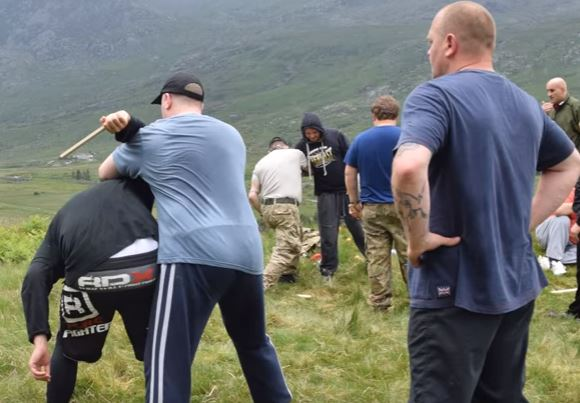 Video Shows Britain First Practising With Knives At Activist Training Camp britain first 3