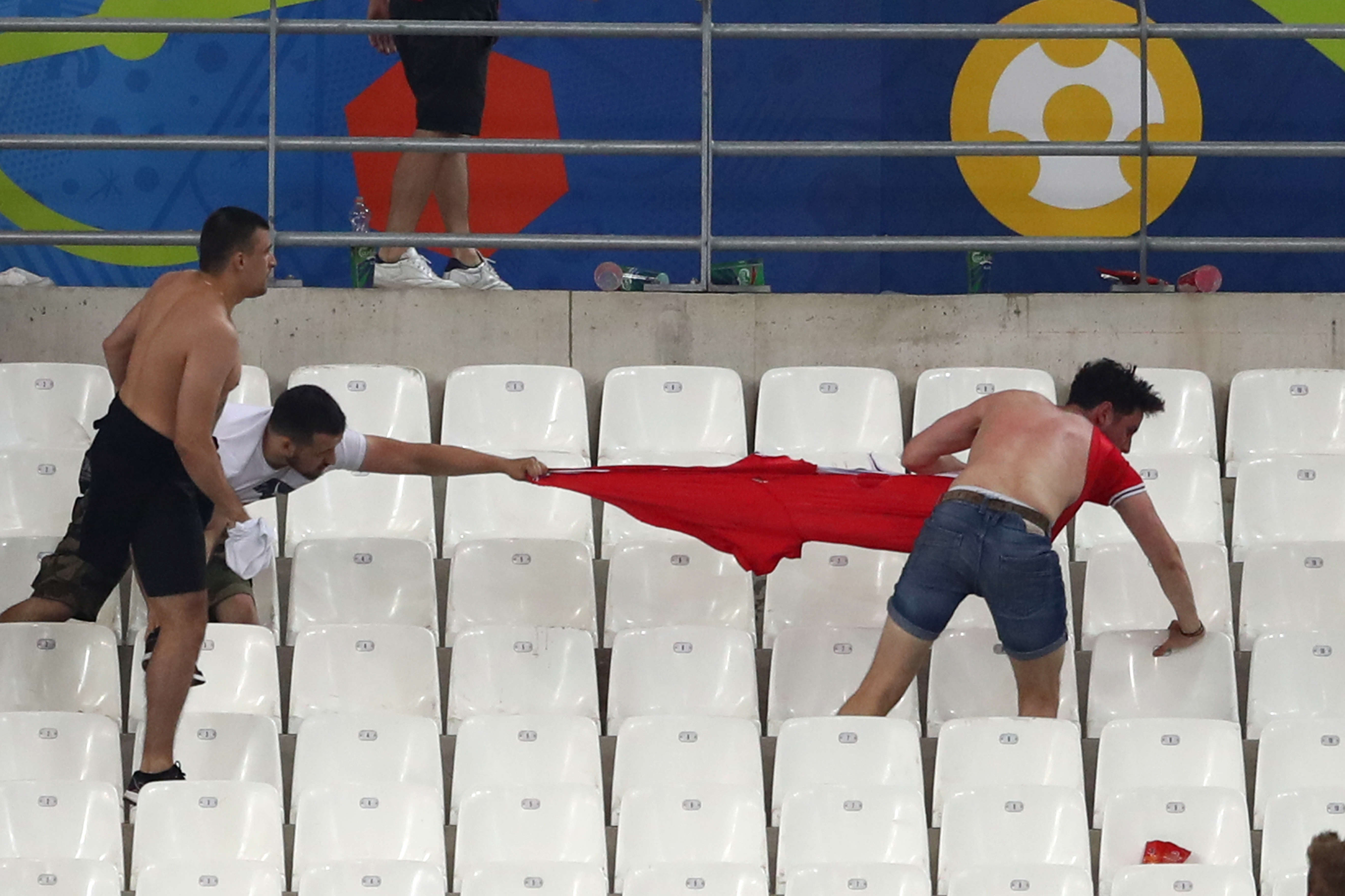 Russian FA Charged, As Photos Show Disabled England Fans Hiding From Violence eurofight44