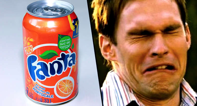 Guy Finds Something Absolutely Vile In His Orange Soda face fanta