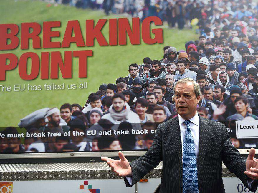 Nigel Farage Calls Himself A Victim When Talking About Jo Cox And Refugees farage