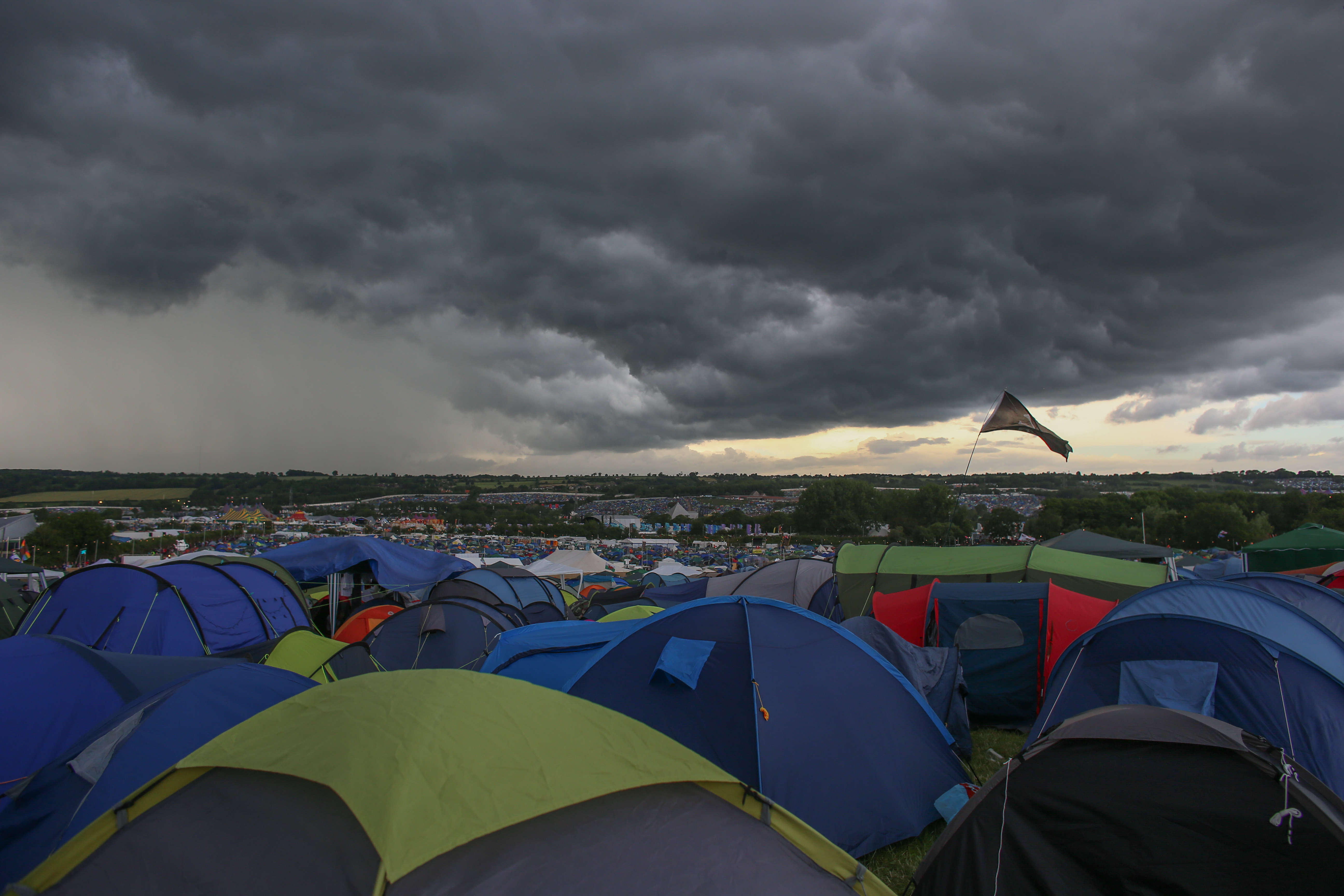 Festival Goers Enjoy Glastonbury 2014