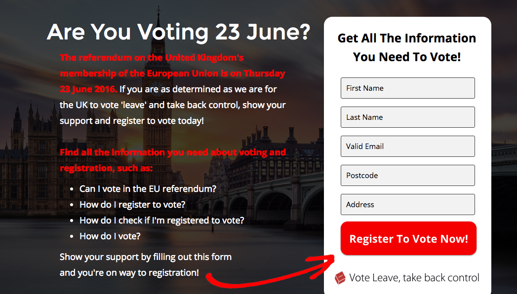 Vote Leave Campaign Website Accused Of Seriously Misleading Would Be Voters leave