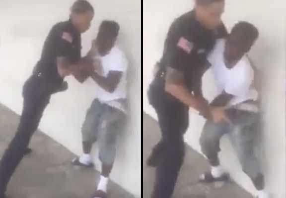 Shocking Moment Police Officer Bodyslams Young Suspect police 1