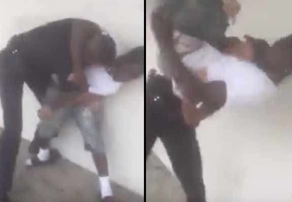 Shocking Moment Police Officer Bodyslams Young Suspect police 2