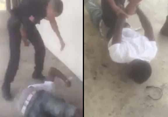 Shocking Moment Police Officer Bodyslams Young Suspect police 3