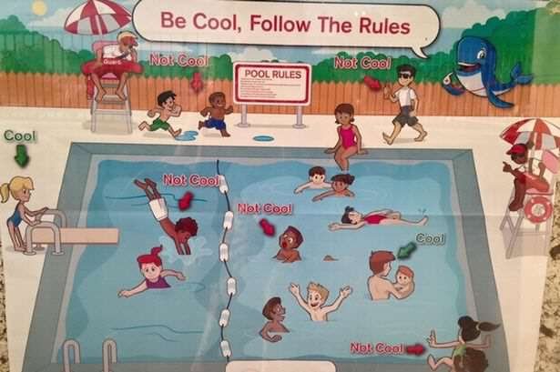 Racist Swimming Poster Sparks Outrage On Twitter pool1 1