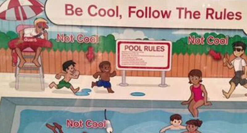 Racist Swimming Poster Sparks Outrage On Twitter poolFacebookThumbnail